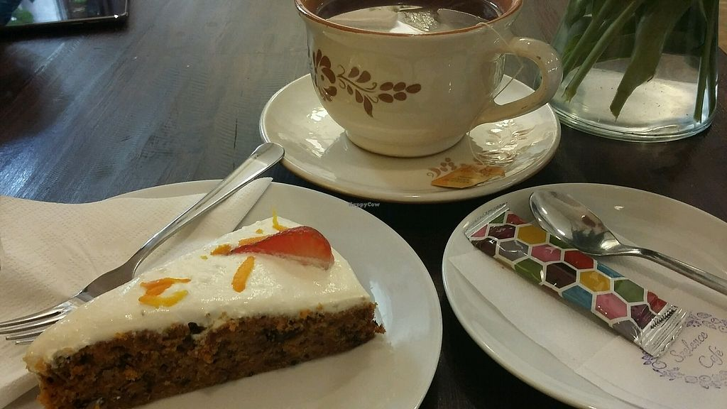 "Photo of Szelence Cafe  by <a href=""/members/profile/Rekabeka"">Rekabeka</a> <br/>Carrot cake and cappucino <br/> December 14, 2017  - <a href='/contact/abuse/image/41965/335599'>Report</a>"