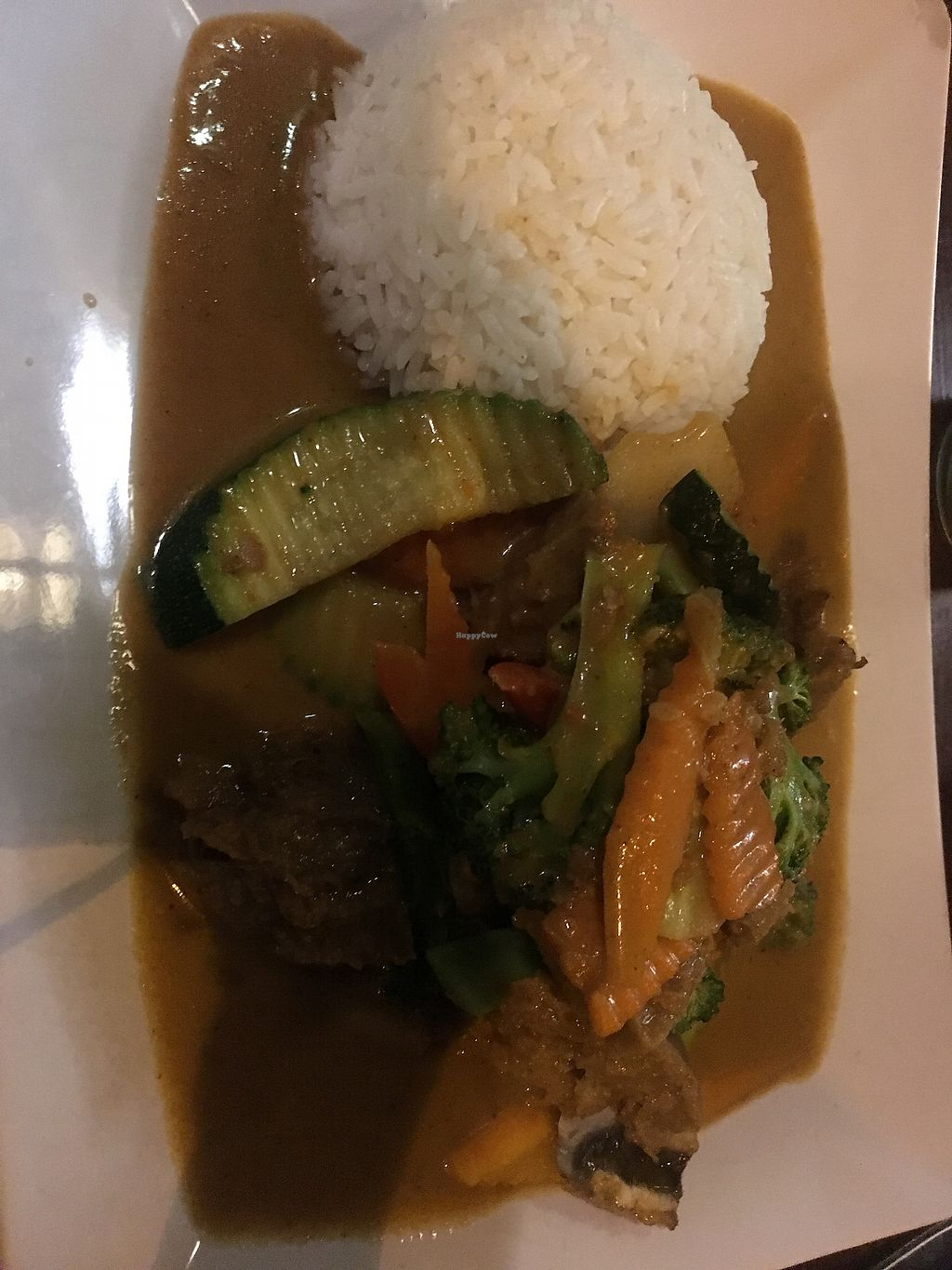 "Photo of Soup and Roll  by <a href=""/members/profile/KimMartin"">KimMartin</a> <br/>Mock chicken with peanut satay sauce <br/> August 28, 2017  - <a href='/contact/abuse/image/42037/298417'>Report</a>"