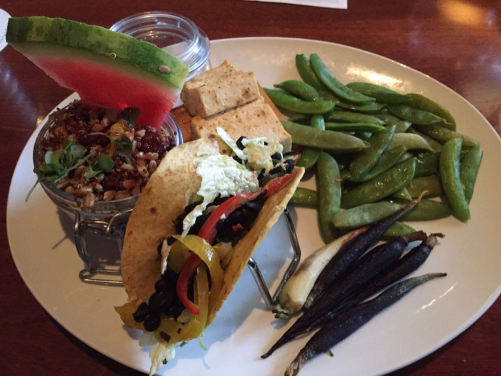"""Photo of Seasons 52  by <a href=""""/members/profile/axis777"""">axis777</a> <br/>The Vegan Tasting. Don't be fooled - this is a one plate sampler, not a multi-course dinner. Still, it's quite good.  <br/> August 24, 2016  - <a href='/contact/abuse/image/42044/171152'>Report</a>"""