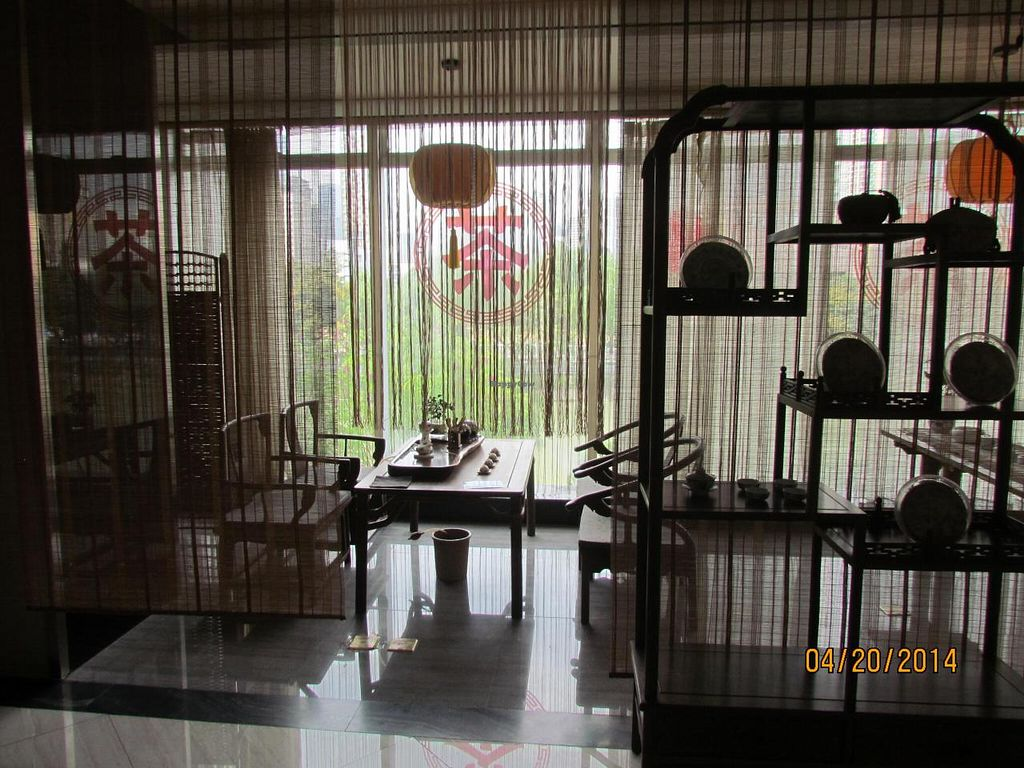 """Photo of CLOSED: Xinxiang Sushijie - Vegetarian World  by <a href=""""/members/profile/papajonquinn"""">papajonquinn</a> <br/>lovely seating <br/> April 22, 2014  - <a href='/contact/abuse/image/42068/68288'>Report</a>"""