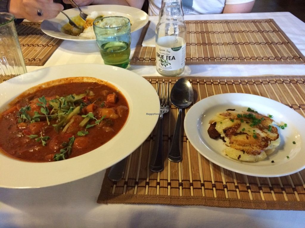 """Photo of CLOSED: LoVeg  by <a href=""""/members/profile/tauberl"""">tauberl</a> <br/>potato goulash and gratin potatoes  <br/> August 28, 2015  - <a href='/contact/abuse/image/42145/115568'>Report</a>"""