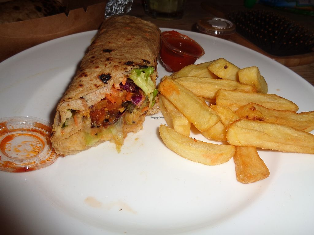 """Photo of Govinda's  by <a href=""""/members/profile/FlorMayana"""">FlorMayana</a> <br/>take away from Govindas, hald of my wrap! <br/> March 31, 2018  - <a href='/contact/abuse/image/4215/378938'>Report</a>"""