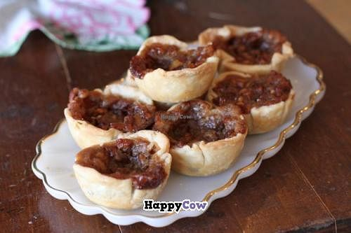 Photo of Through Being Cool Vegan Baking Co.  by CourtneyM <br/>Butter tarts, a canadian favourite! <br/> October 1, 2013  - <a href='/contact/abuse/image/42161/56142'>Report</a>