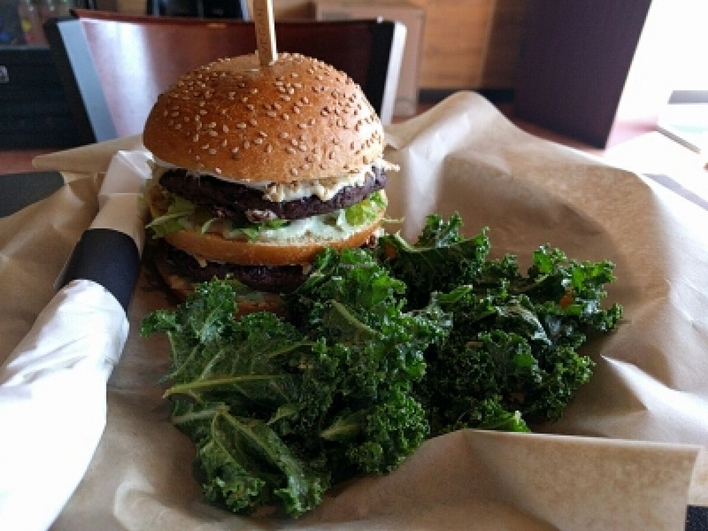 """Photo of PositiviTea  by <a href=""""/members/profile/MatthewVBogusz"""">MatthewVBogusz</a> <br/>Big Bean Burger with Kale Slaw <br/> March 9, 2016  - <a href='/contact/abuse/image/42188/139461'>Report</a>"""