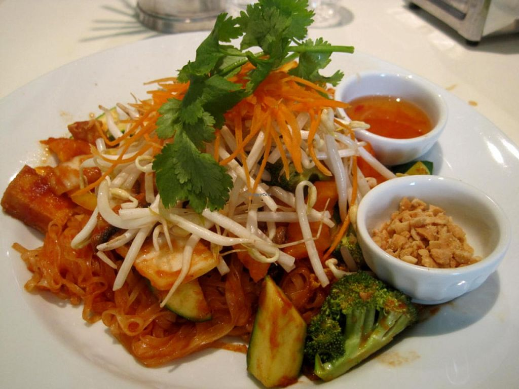 """Photo of CLOSED: Quan Bo De Cuisine Vegetarienne  by <a href=""""/members/profile/Babette"""">Babette</a> <br/>Pad Thai This dish is not on the menu, but if you ask for it, the cook will prepare it for you. And you should ask for it, because it is fabulous <br/> July 14, 2015  - <a href='/contact/abuse/image/42200/109250'>Report</a>"""