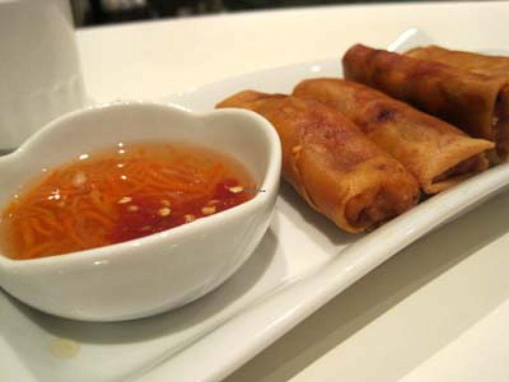 """Photo of CLOSED: Quan Bo De Cuisine Vegetarienne  by <a href=""""/members/profile/Babette"""">Babette</a> <br/>Imperial Rolls. Very tasty <br/> January 14, 2014  - <a href='/contact/abuse/image/42200/62485'>Report</a>"""