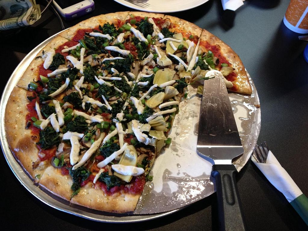 """Photo of Crust 54  by <a href=""""/members/profile/Alee23"""">Alee23</a> <br/>Vegan pizza with teese vegan cheese.  <br/> April 26, 2014  - <a href='/contact/abuse/image/42218/68657'>Report</a>"""