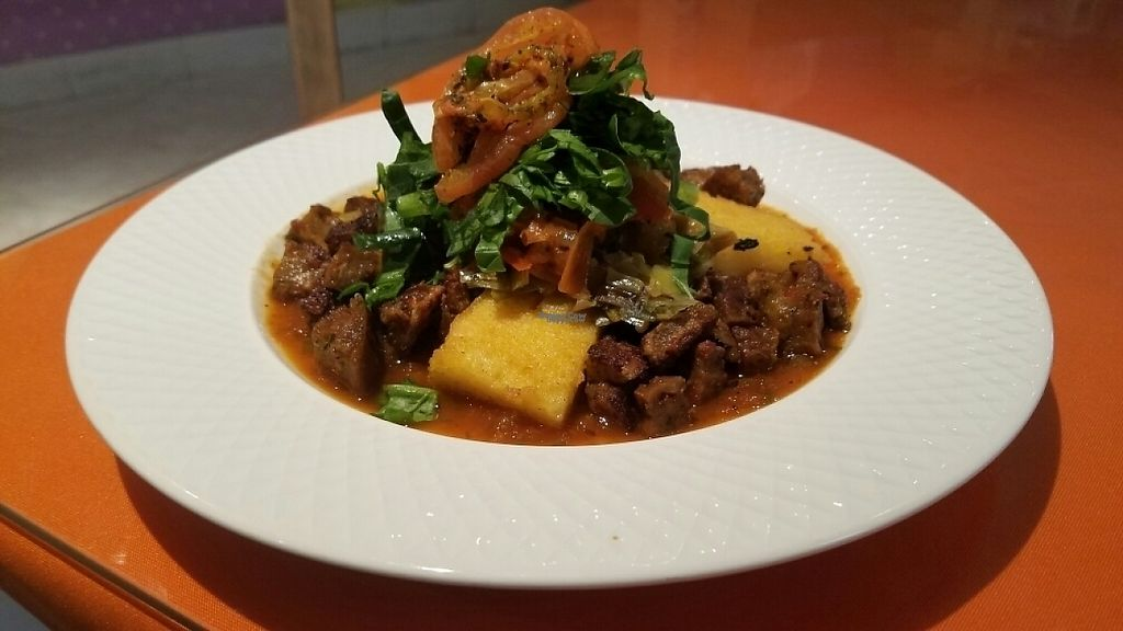 """Photo of Caballete and Berenjena  by <a href=""""/members/profile/kenvegan"""">kenvegan</a> <br/>Polenta With Seitan <br/> February 6, 2017  - <a href='/contact/abuse/image/42226/223779'>Report</a>"""