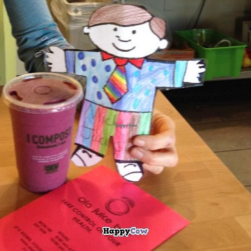 Photo of Ola Juice Bar  by Yogimama <br/>Flat Stanley luvs Ola  <br/> December 20, 2013  - <a href='/contact/abuse/image/42234/60614'>Report</a>