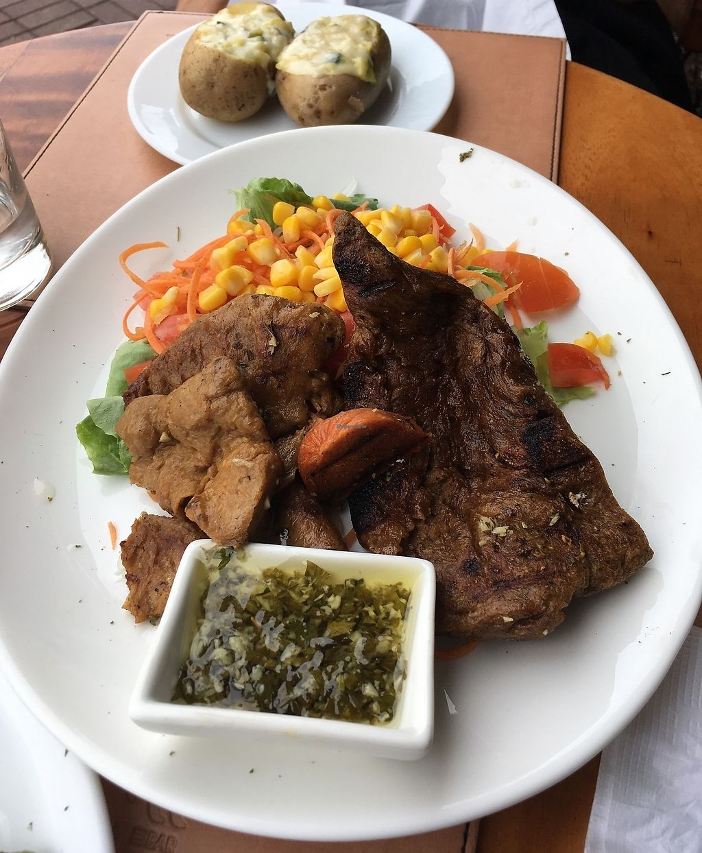 """Photo of Isla Grill  by <a href=""""/members/profile/peas-full"""">peas-full</a> <br/>mock meat <br/> January 2, 2018  - <a href='/contact/abuse/image/42261/342037'>Report</a>"""