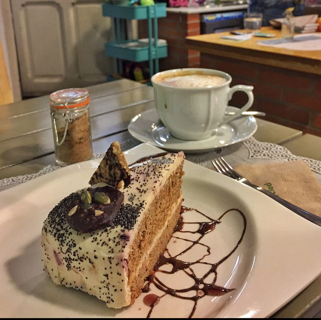 """Photo of Rayen Vegano  by <a href=""""/members/profile/cybergabi"""">cybergabi</a> <br/>Carrot cake and soy latte <br/> October 15, 2016  - <a href='/contact/abuse/image/42279/182221'>Report</a>"""