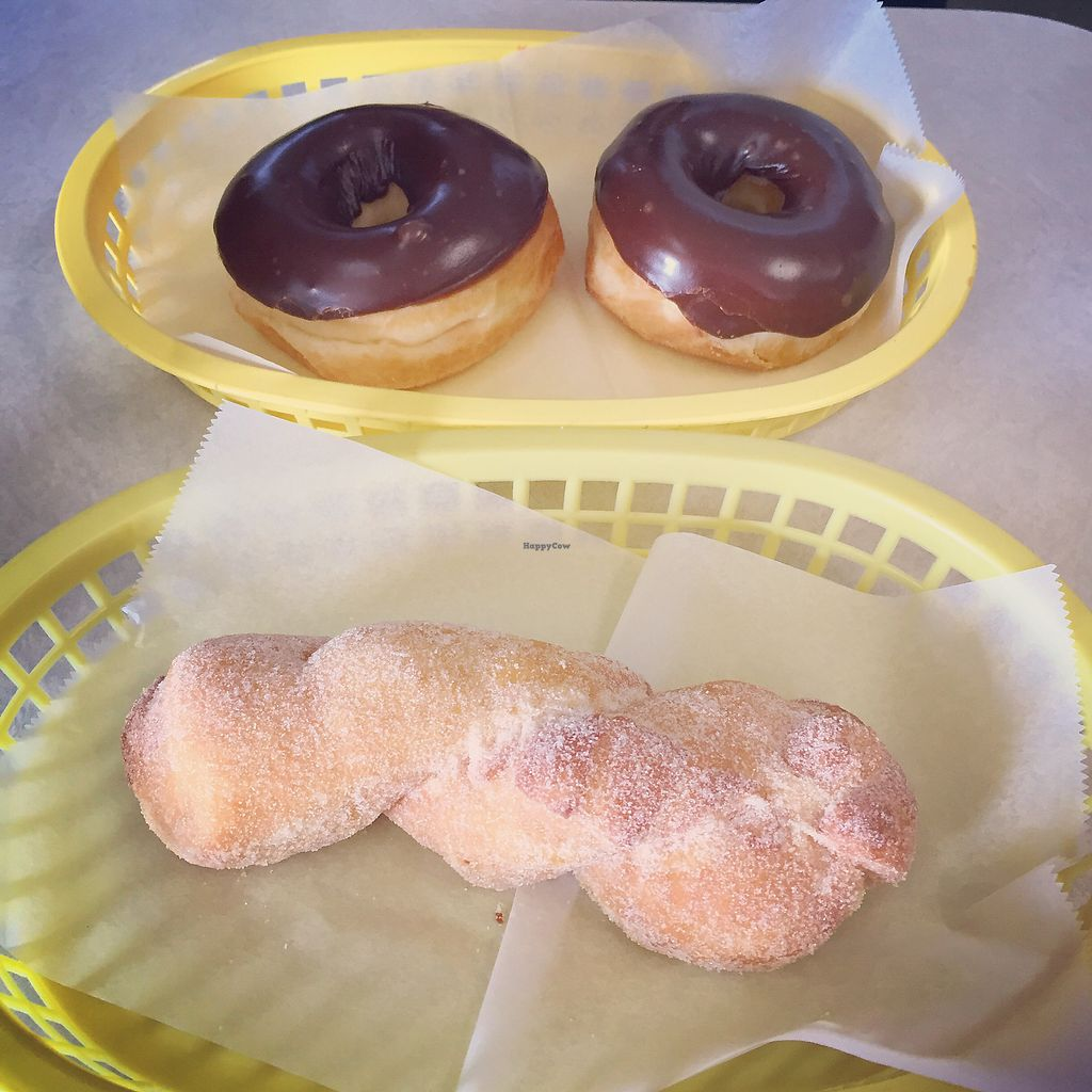 "Photo of Ronald's Donuts  by <a href=""/members/profile/Vegtrish"">Vegtrish</a> <br/>Sugar twist and chocolate covered donuts <br/> February 12, 2018  - <a href='/contact/abuse/image/4228/358136'>Report</a>"