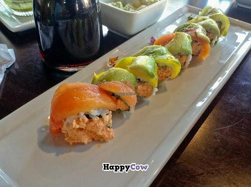 "Photo of Kabuki  by <a href=""/members/profile/spiceislandvegan"">spiceislandvegan</a> <br/>Veggie Rainbow Roll <br/> October 27, 2013  - <a href='/contact/abuse/image/42297/57410'>Report</a>"