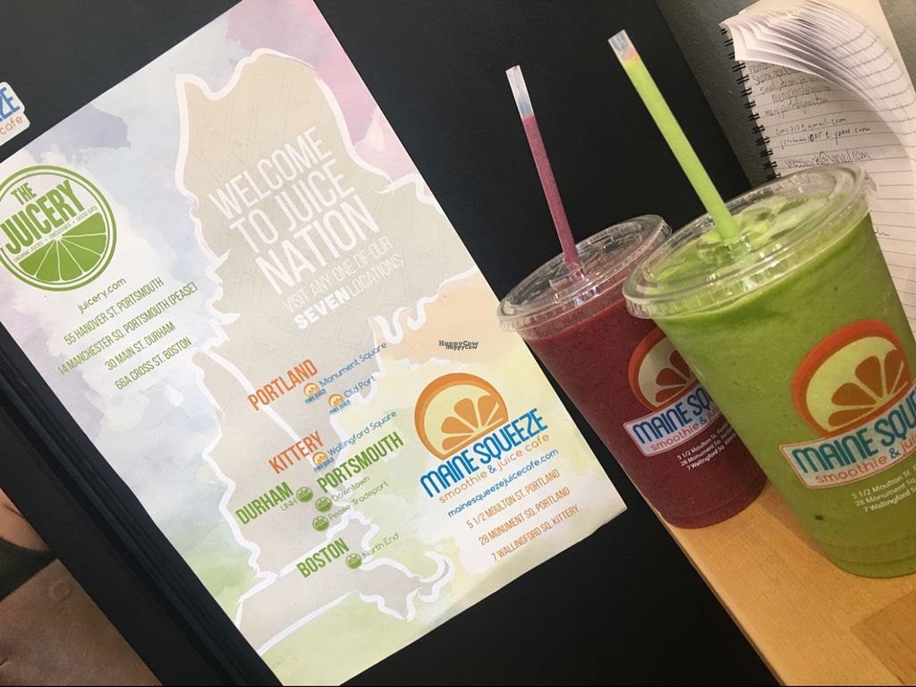 """Photo of Maine Squeeze Juice Cafe  by <a href=""""/members/profile/Nourished"""">Nourished</a> <br/>you can customize your smoothies <br/> August 12, 2016  - <a href='/contact/abuse/image/42299/167956'>Report</a>"""