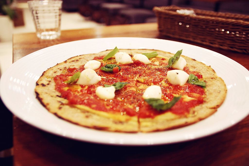 """Photo of Choice  by <a href=""""/members/profile/YukiLim"""">YukiLim</a> <br/>Margherita pizza with vegan mozarella <br/> July 16, 2017  - <a href='/contact/abuse/image/42327/280903'>Report</a>"""