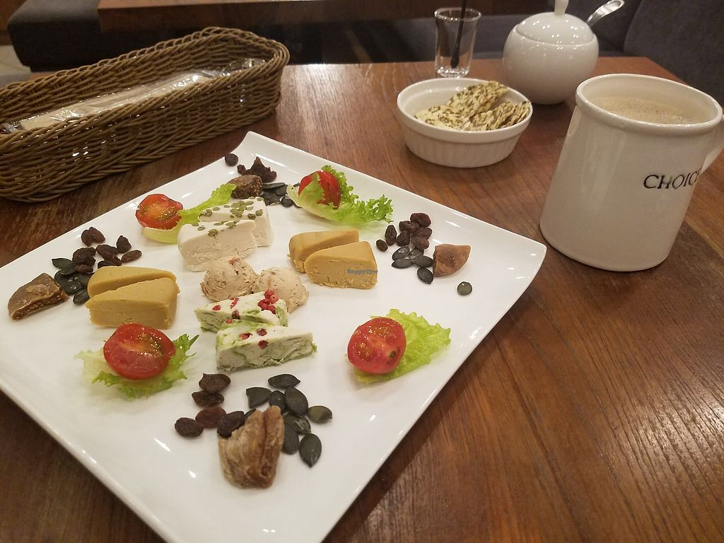 """Photo of Choice  by <a href=""""/members/profile/ReiAmber"""">ReiAmber</a> <br/>5 cheese plate (all non-dairy) <br/> February 18, 2018  - <a href='/contact/abuse/image/42327/360697'>Report</a>"""