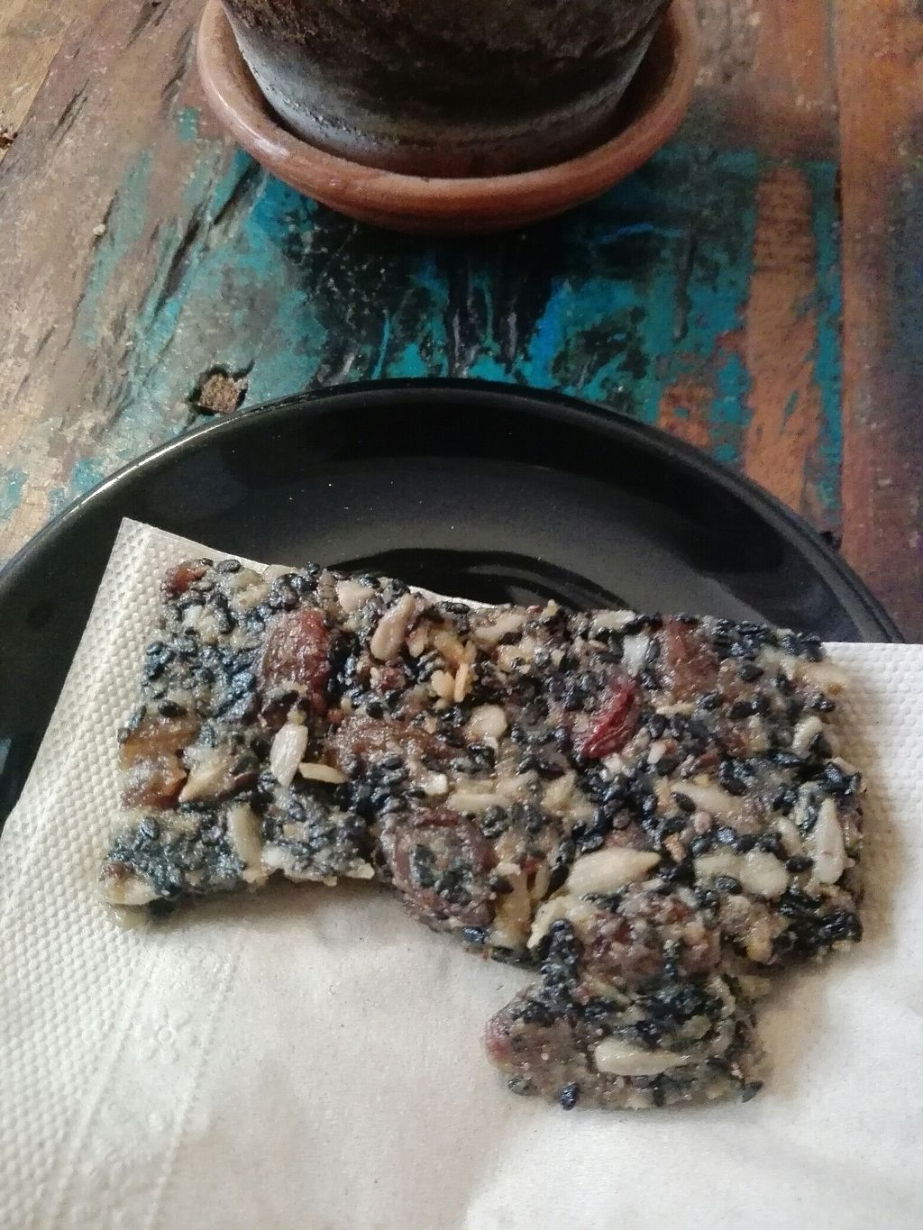 "Photo of El Cafe Blueproject - temporarily closed  by <a href=""/members/profile/Pteri"">Pteri</a> <br/>Sugar free gooey seed and goji biscuit <br/> July 12, 2017  - <a href='/contact/abuse/image/42332/279478'>Report</a>"