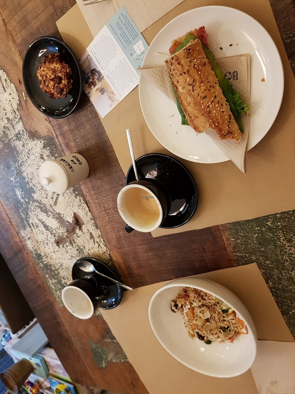 """Photo of El Cafe Blueproject  by <a href=""""/members/profile/rachie18"""">rachie18</a> <br/>Pad Thai and beet hummus sandwhich <br/> February 9, 2018  - <a href='/contact/abuse/image/42332/356990'>Report</a>"""