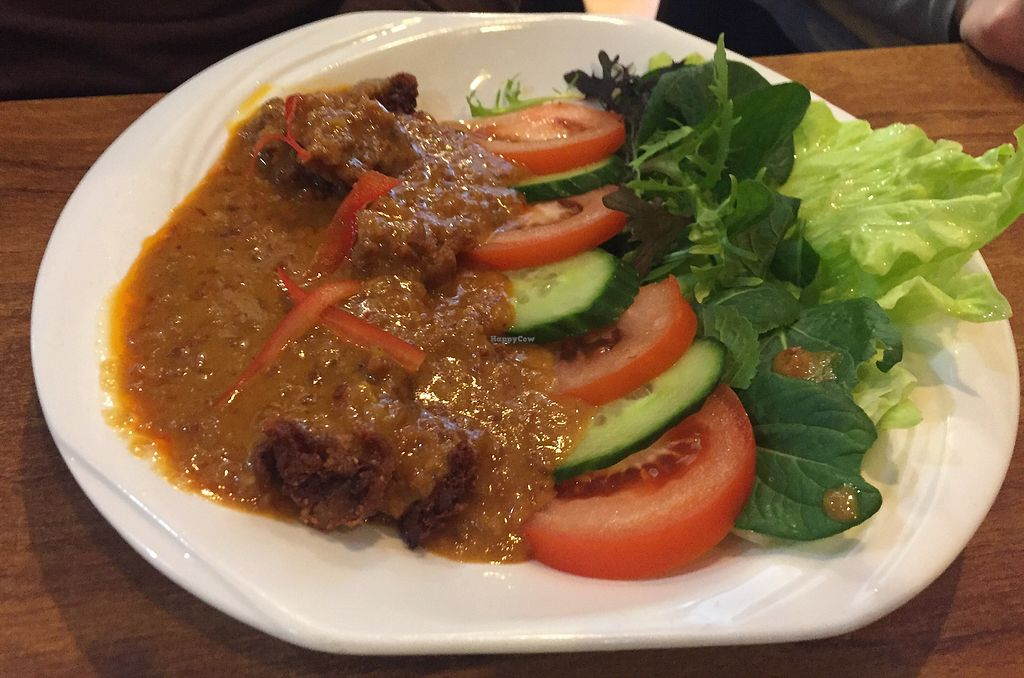 """Photo of Sunflower Thai Vegetarian Restaurant  by <a href=""""/members/profile/Jameskille"""">Jameskille</a> <br/>peanut chicken <br/> July 25, 2017  - <a href='/contact/abuse/image/4236/284603'>Report</a>"""