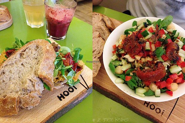 "Photo of Hooi  by <a href=""/members/profile/veggiesara"">veggiesara</a> <br/>Hummus sandwich and pasta salad <br/> April 15, 2018  - <a href='/contact/abuse/image/42389/386301'>Report</a>"