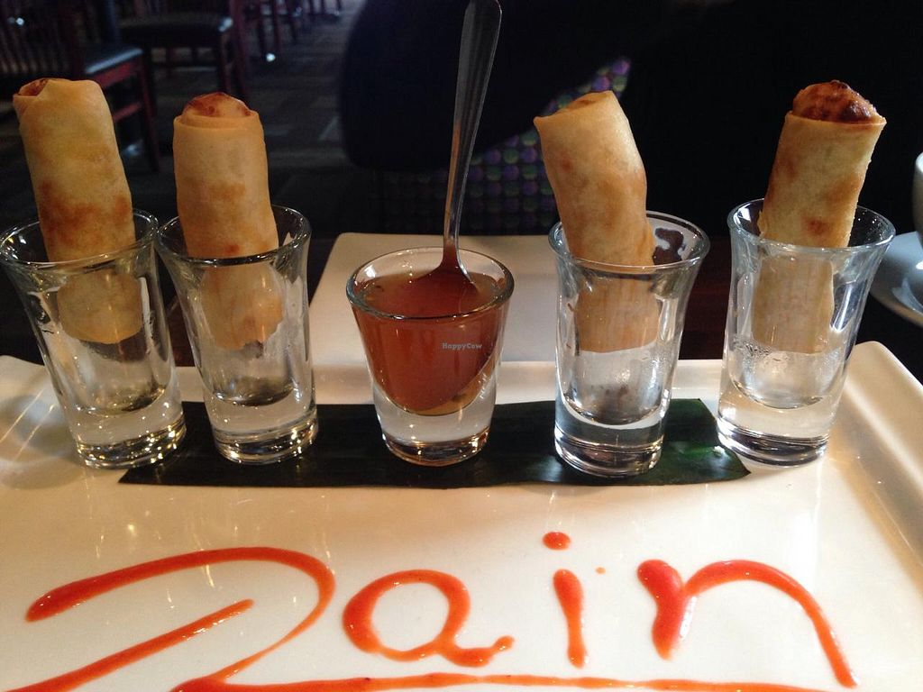 "Photo of Rain Thai and Sushi Bar  by <a href=""/members/profile/calamaestra"">calamaestra</a> <br/>Spring rolls <br/> December 29, 2014  - <a href='/contact/abuse/image/42403/88929'>Report</a>"