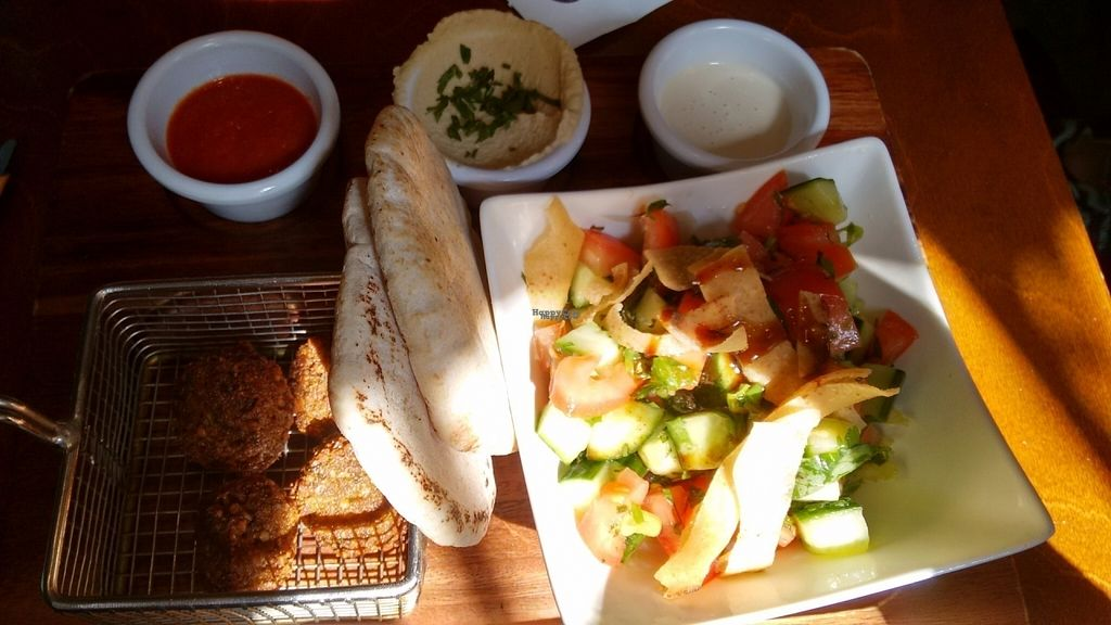 """Photo of Umi Falafel - Dublin 2  by <a href=""""/members/profile/craigmc"""">craigmc</a> <br/>Fatoush salad and falafel plus dips. A bargain <br/> August 19, 2016  - <a href='/contact/abuse/image/42422/170011'>Report</a>"""