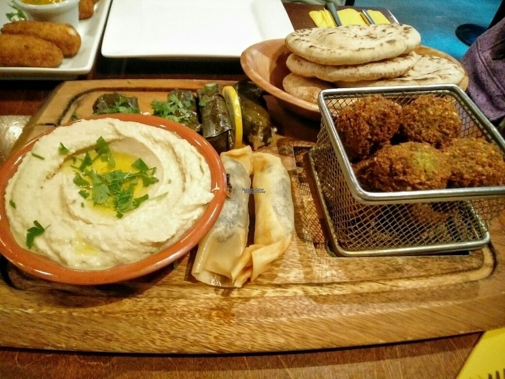 """Photo of Umi Falafel - Dublin 2  by <a href=""""/members/profile/sunshineMUC"""">sunshineMUC</a> <br/>falafel plate for two including also a yummy tabuleh salad <br/> October 8, 2016  - <a href='/contact/abuse/image/42422/180640'>Report</a>"""