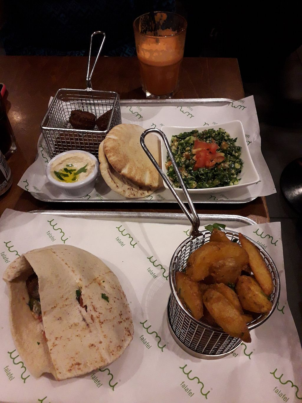 """Photo of Umi Falafel - Dublin 2  by <a href=""""/members/profile/DublinVegan1986"""">DublinVegan1986</a> <br/>Great lunch deals! <br/> February 11, 2018  - <a href='/contact/abuse/image/42422/358095'>Report</a>"""