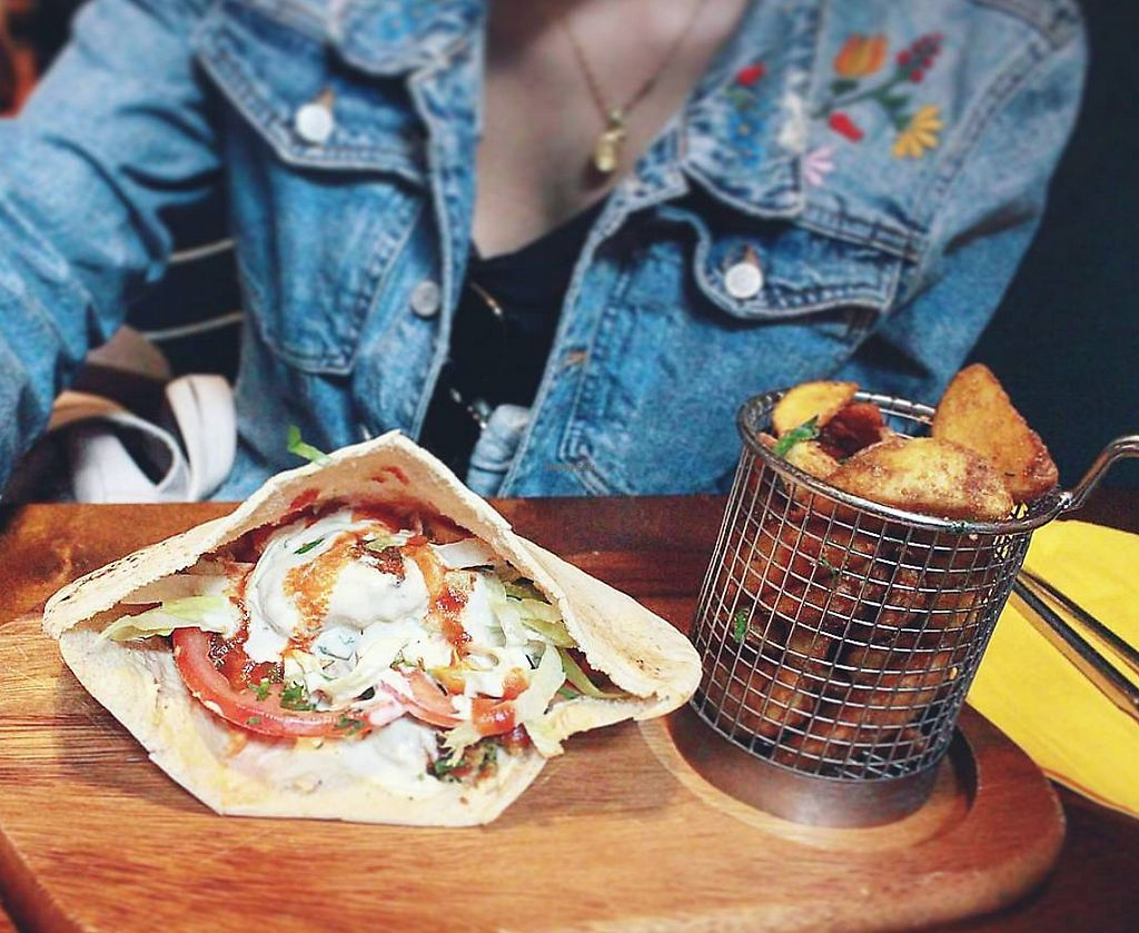 """Photo of Umi Falafel - Dublin 2  by <a href=""""/members/profile/JessicaFontes"""">JessicaFontes</a> <br/>Lunch time deal <br/> April 16, 2018  - <a href='/contact/abuse/image/42422/386868'>Report</a>"""