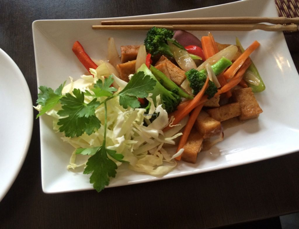 """Photo of Soi Saam  by <a href=""""/members/profile/Frida_vh"""">Frida_vh</a> <br/>Beef oyster wok, made vegan. photo taken by @lifeofaveganteenager <br/> April 3, 2016  - <a href='/contact/abuse/image/42438/142537'>Report</a>"""