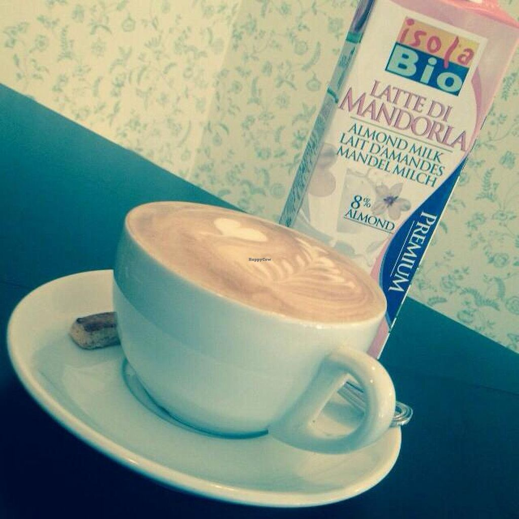 """Photo of CLOSED: Dini Mueter Bar and Spielplatz  by <a href=""""/members/profile/Karlotta78"""">Karlotta78</a> <br/>caffee latte w almond milk <br/> October 10, 2014  - <a href='/contact/abuse/image/42454/82573'>Report</a>"""