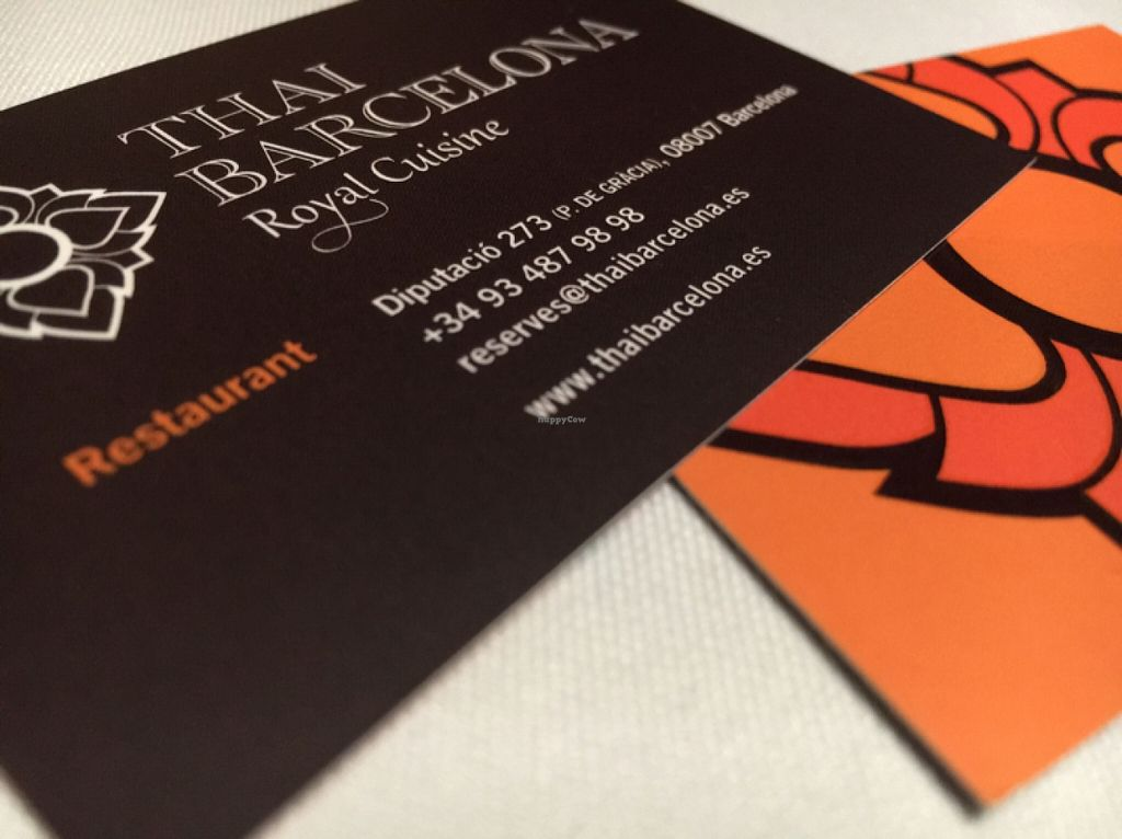 """Photo of Thai Barcelona  by <a href=""""/members/profile/hack_man"""">hack_man</a> <br/>Nice business card  <br/> April 13, 2016  - <a href='/contact/abuse/image/42471/144431'>Report</a>"""
