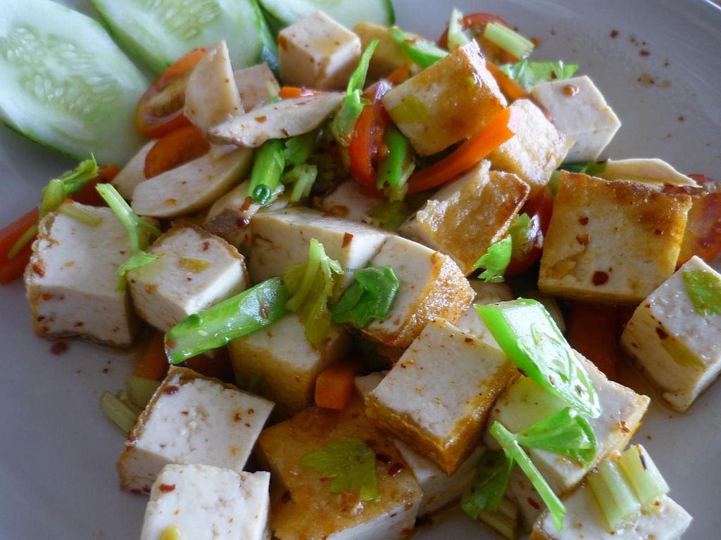 """Photo of CLOSED: Hong Sun - Raum Boon  by <a href=""""/members/profile/settekappa"""">settekappa</a> <br/>tofu spicy salad <br/> February 9, 2014  - <a href='/contact/abuse/image/42578/63982'>Report</a>"""