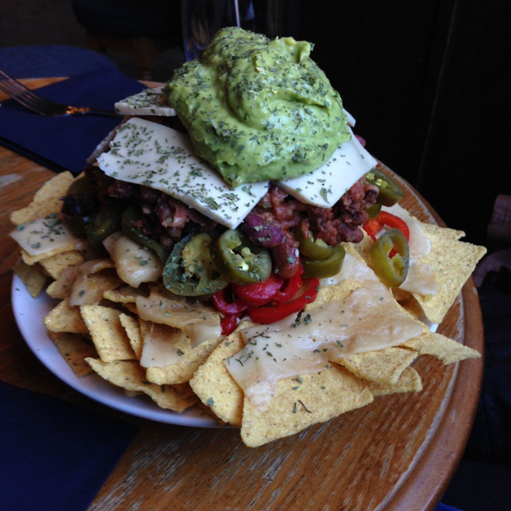 """Photo of The Auld Hoose  by <a href=""""/members/profile/Sassburger"""">Sassburger</a> <br/>Vegan Nachos  <br/> August 27, 2015  - <a href='/contact/abuse/image/42585/115413'>Report</a>"""
