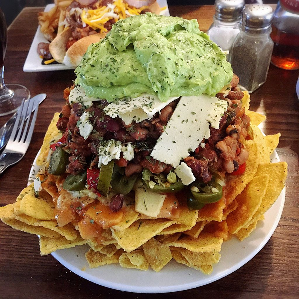 """Photo of The Auld Hoose  by <a href=""""/members/profile/chloedaydream"""">chloedaydream</a> <br/>vegan nachos  <br/> July 3, 2016  - <a href='/contact/abuse/image/42585/157472'>Report</a>"""