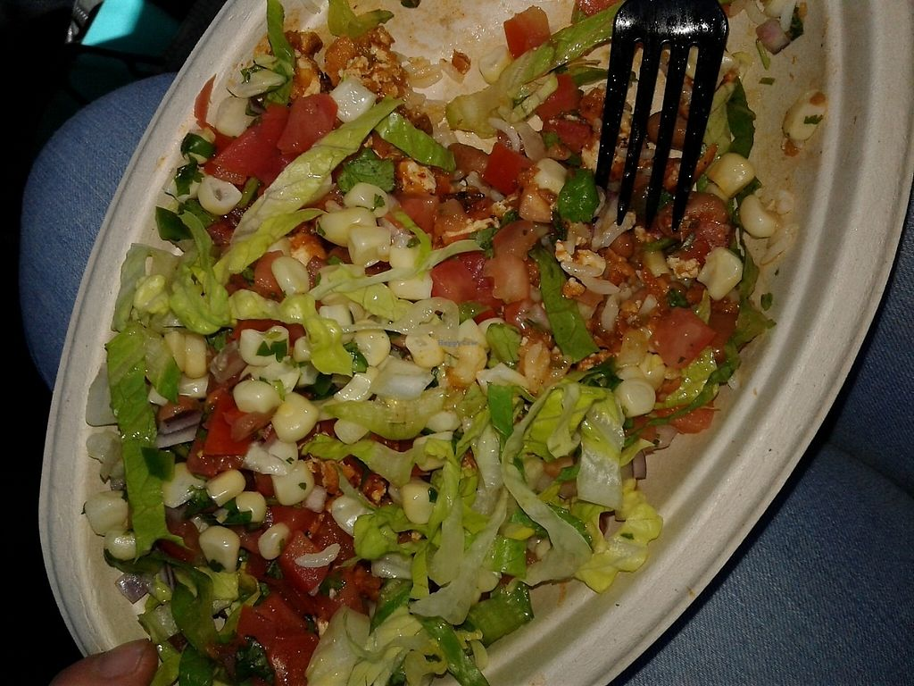 "Photo of Chipotle  by <a href=""/members/profile/anastronomy"">anastronomy</a> <br/>Sofritas bowl <br/> May 29, 2017  - <a href='/contact/abuse/image/42618/263935'>Report</a>"