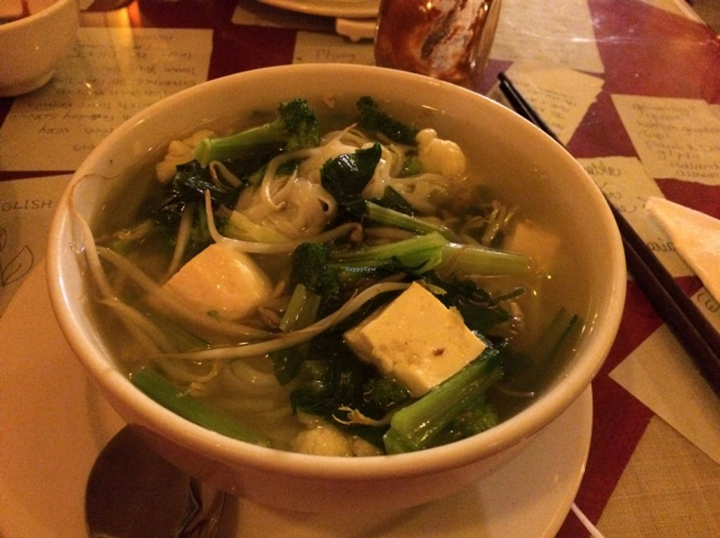 """Photo of Aubergine Cafe  by <a href=""""/members/profile/Siup"""">Siup</a> <br/>vegetarian veggie tofu soup <br/> December 15, 2015  - <a href='/contact/abuse/image/42628/128556'>Report</a>"""
