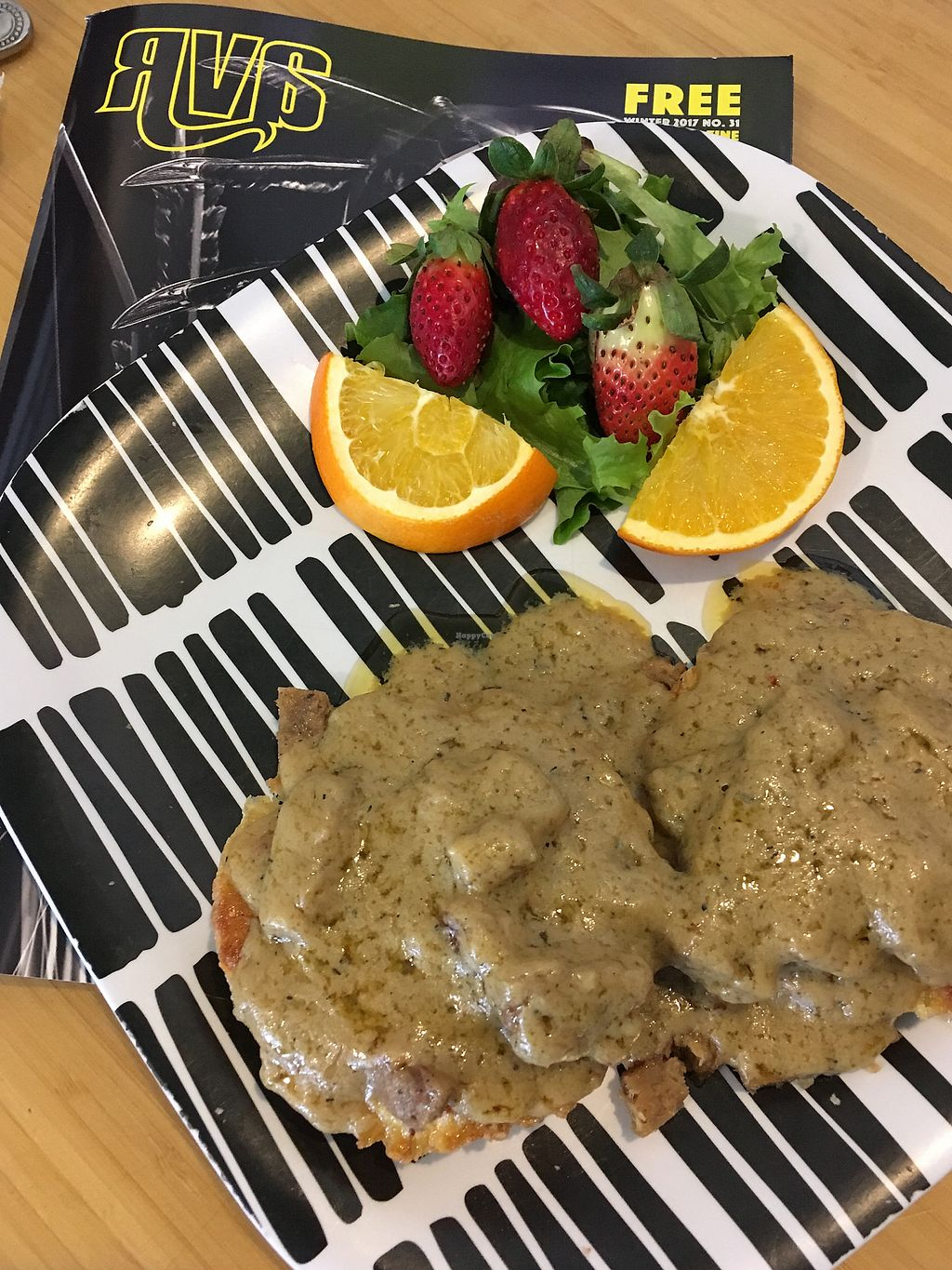 """Photo of Lamplighter - Addison St  by <a href=""""/members/profile/manbo"""">manbo</a> <br/>Vegan biscuits and gravy <br/> December 27, 2017  - <a href='/contact/abuse/image/42675/339666'>Report</a>"""