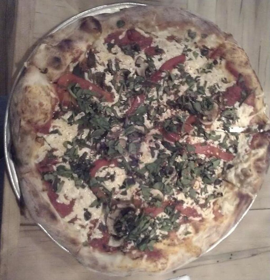"""Photo of CLOSED: Bellytimber Tavern  by <a href=""""/members/profile/meredith"""">meredith</a> <br/>Vegan Pizza with Daiya Cheese.  <br/> January 9, 2014  - <a href='/contact/abuse/image/42717/232731'>Report</a>"""