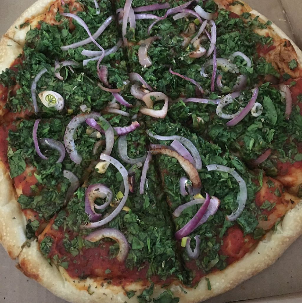 """Photo of Asheville Pizza and Brewing  by <a href=""""/members/profile/Rick%20and%20Dani"""">Rick and Dani</a> <br/>spinach was like wet grass  <br/> May 4, 2017  - <a href='/contact/abuse/image/42733/255381'>Report</a>"""
