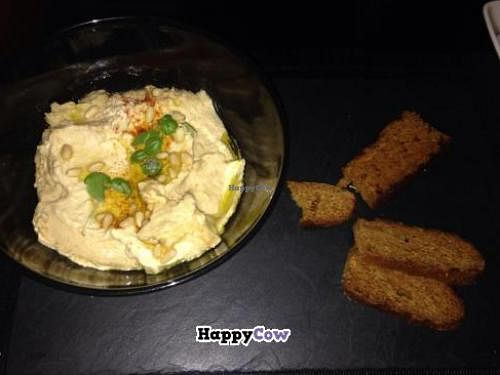 "Photo of CLOSED: Raw - La Suite West  by <a href=""/members/profile/ColletteFarnol"">ColletteFarnol</a> <br/>Hummus and sweet potato bread <br/> November 9, 2013  - <a href='/contact/abuse/image/42783/58205'>Report</a>"