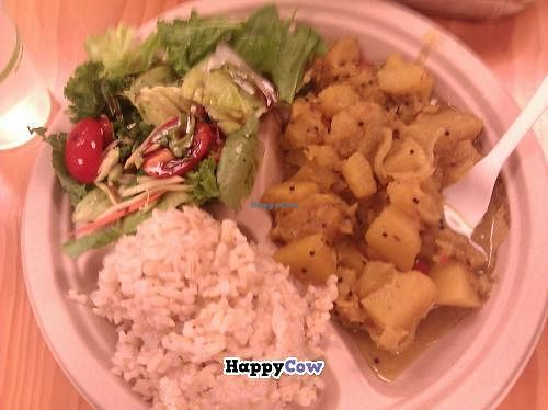 """Photo of Roots Cafe  by <a href=""""/members/profile/Star%20Thrower"""">Star Thrower</a> <br/>Vegan pumpkin curry with veggies and brown rice.  $8. Delicious!! <br/> November 8, 2013  - <a href='/contact/abuse/image/42790/58160'>Report</a>"""