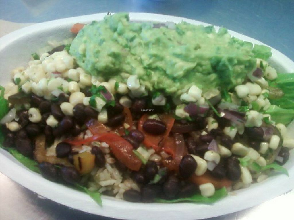 "Photo of Chipotle  by <a href=""/members/profile/mshelene"">mshelene</a> <br/>Veggie Salad with guacamole added <br/> January 5, 2016  - <a href='/contact/abuse/image/42818/131163'>Report</a>"