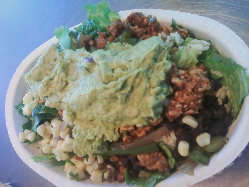 "Photo of Chipotle  by <a href=""/members/profile/mshelene"">mshelene</a> <br/>Sofritas Salad (sofritas spicy tofu, corn, peppers, onion, lettuce, brown rice, black beans, and guacamole.) <br/> March 10, 2017  - <a href='/contact/abuse/image/42818/234749'>Report</a>"
