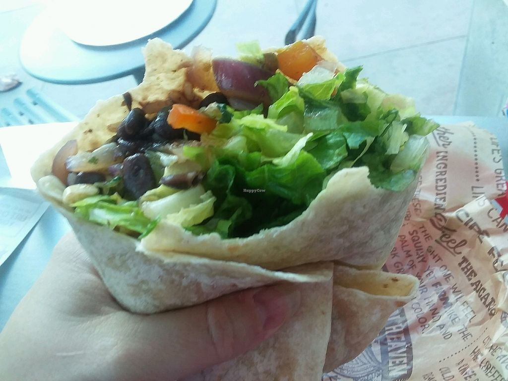"Photo of Chipotle  by <a href=""/members/profile/mshelene"">mshelene</a> <br/>Veggie burrito (beans, rice, peppers, onions, corn, lettuce, guacamole) <br/> April 5, 2018  - <a href='/contact/abuse/image/42818/381227'>Report</a>"