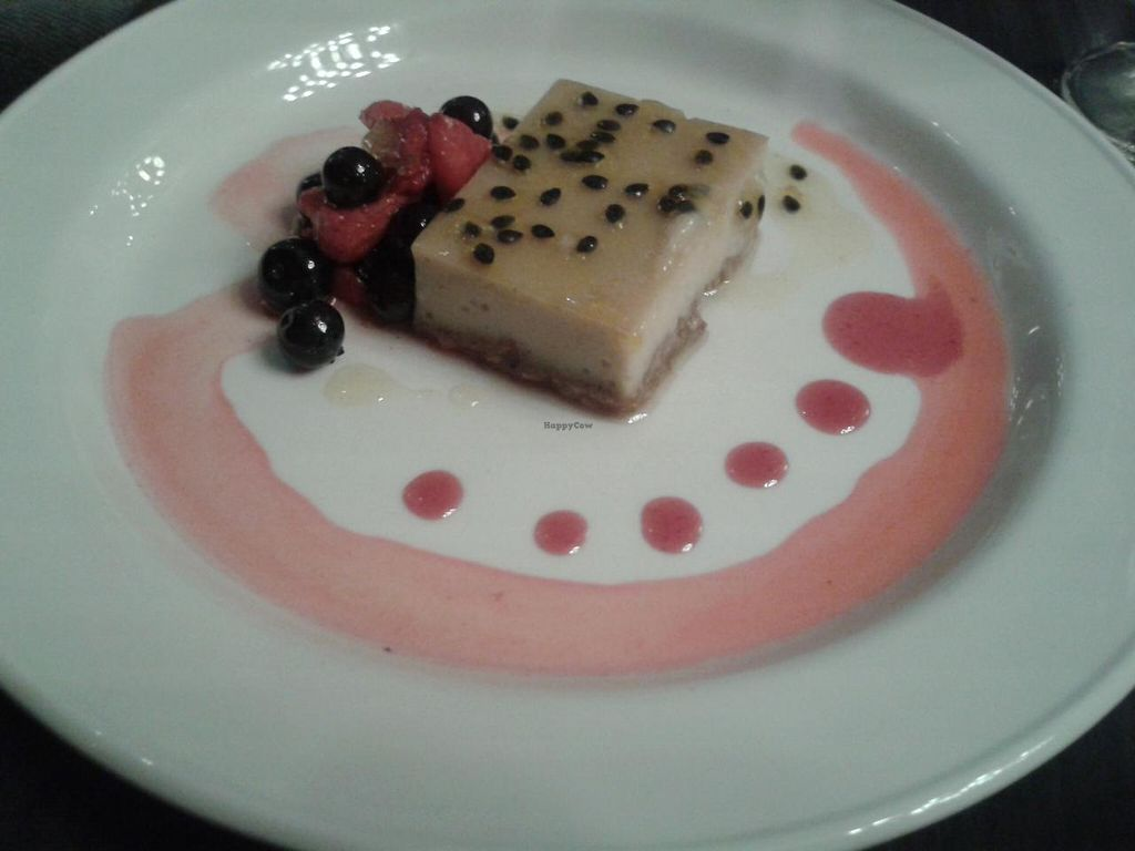 "Photo of Bread Street Brasserie  by <a href=""/members/profile/jennyc32"">jennyc32</a> <br/>Vegan night dessert:  passionfruit cheesecake <br/> April 19, 2015  - <a href='/contact/abuse/image/42822/99640'>Report</a>"