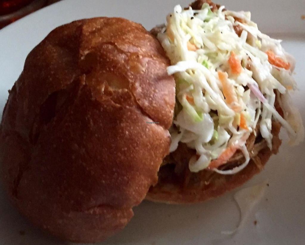 """Photo of Khyber Pass Pub  by <a href=""""/members/profile/Evolving"""">Evolving</a> <br/>vegan pulled pork <br/> July 3, 2015  - <a href='/contact/abuse/image/42851/223472'>Report</a>"""
