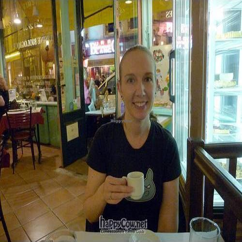 """Photo of CLOSED: Les Cinq Saveurs d'Anada  by <a href=""""/members/profile/sherill"""">sherill</a> <br/>Enjoying an amazing espresso (desserts are also incredible!) <br/> May 9, 2009  - <a href='/contact/abuse/image/4285/1887'>Report</a>"""