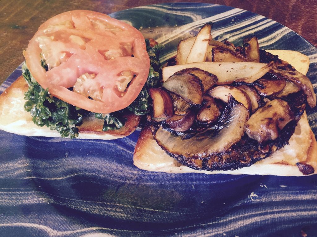 """Photo of Kale Cafe  by <a href=""""/members/profile/gwild"""">gwild</a> <br/>veggie burger <br/> August 22, 2015  - <a href='/contact/abuse/image/42862/114676'>Report</a>"""