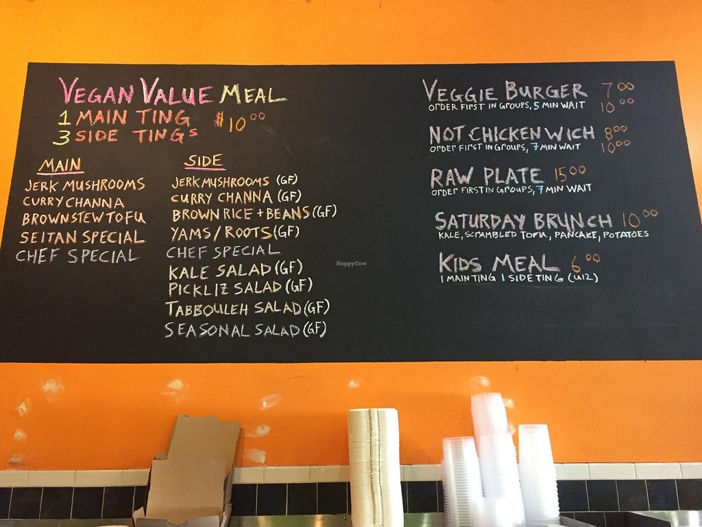 """Photo of Kale Cafe  by <a href=""""/members/profile/clovely.vegan"""">clovely.vegan</a> <br/>Menu <br/> October 21, 2015  - <a href='/contact/abuse/image/42862/122042'>Report</a>"""
